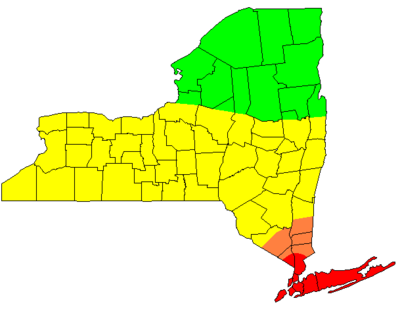 map of new york state by county. a map of New York State.