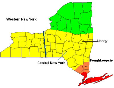 A Map Detailing Upstate New York