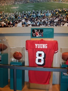 Steve Young's already enshrined in Canton, now he'll have his number retired by the 49ers. (Photo from my 2005 trip to see his induction.)