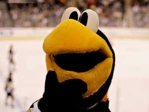 "The Penguin asks, ""Where is Everyone's Favorite Goalie? He won us games!"""