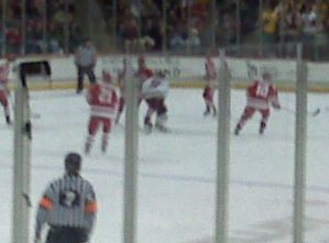 Lawrence playing in the third period (forgive the bad Blackberry photo.)